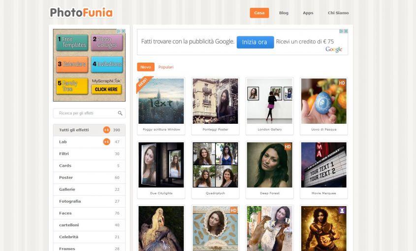 Photofunia il miglior sito per per fotomontaggi gratis